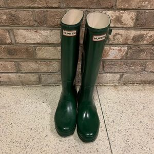 Tall Green hunter boots